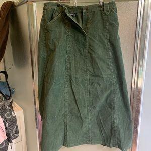Denim & Co corduroy skirt
